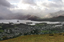 Derwentwater (left) and Bassenthwaite