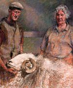 Derick and Jean Wilson with Percy the Herdwick tup - Copyright © 2008 Keith Bowen